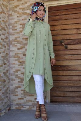 En Tarz Tesettür Tunik Elbise Modelleri 2018