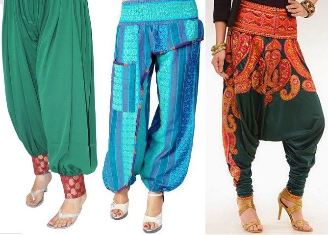 En Zarif Bayan Şalvar Pantolon Tasarımları 2018