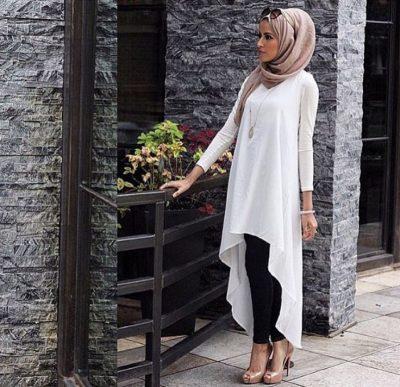 En Zarif Tesettür Tunik Elbise Modelleri 2018