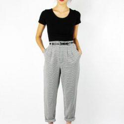 Kemer Detaylı Yüksek Bel Pantolon Modelleri 2018