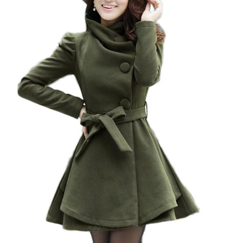 Kuşak Detaylı Bayan Kaşe Kaban Modelleri 2018