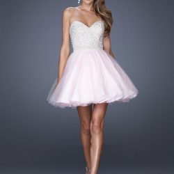 Mini Taş İşlemeli Straplez Elbise Modelleri