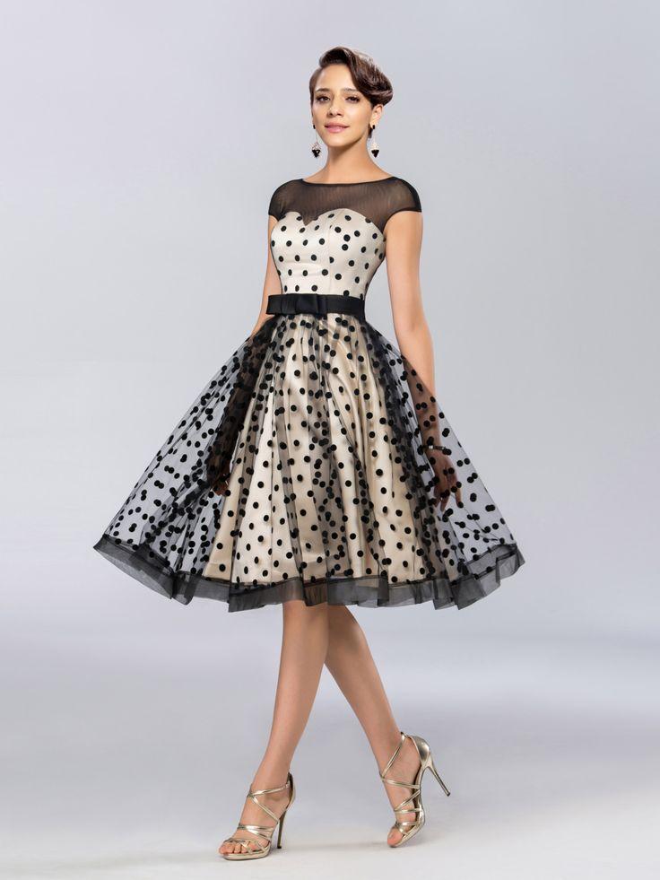 Puantiye Detaylı Elbise Modelleri 2018