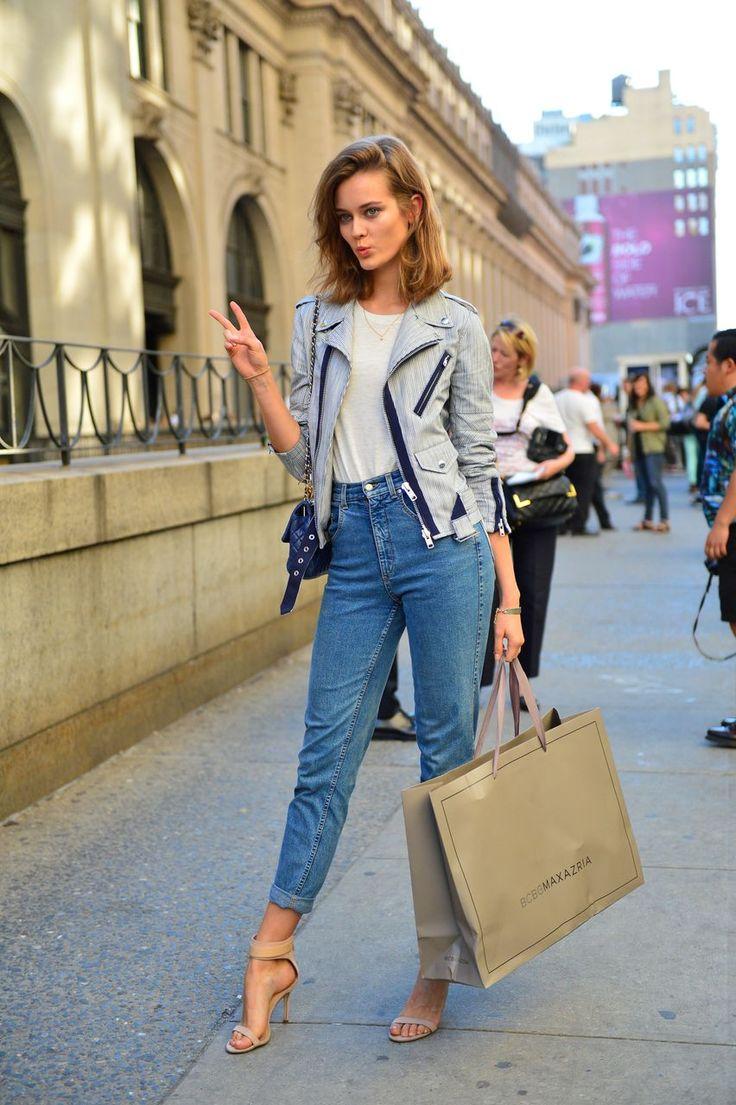 Sokak Modası Yüksek Bel Pantolon Kombinleri 2018