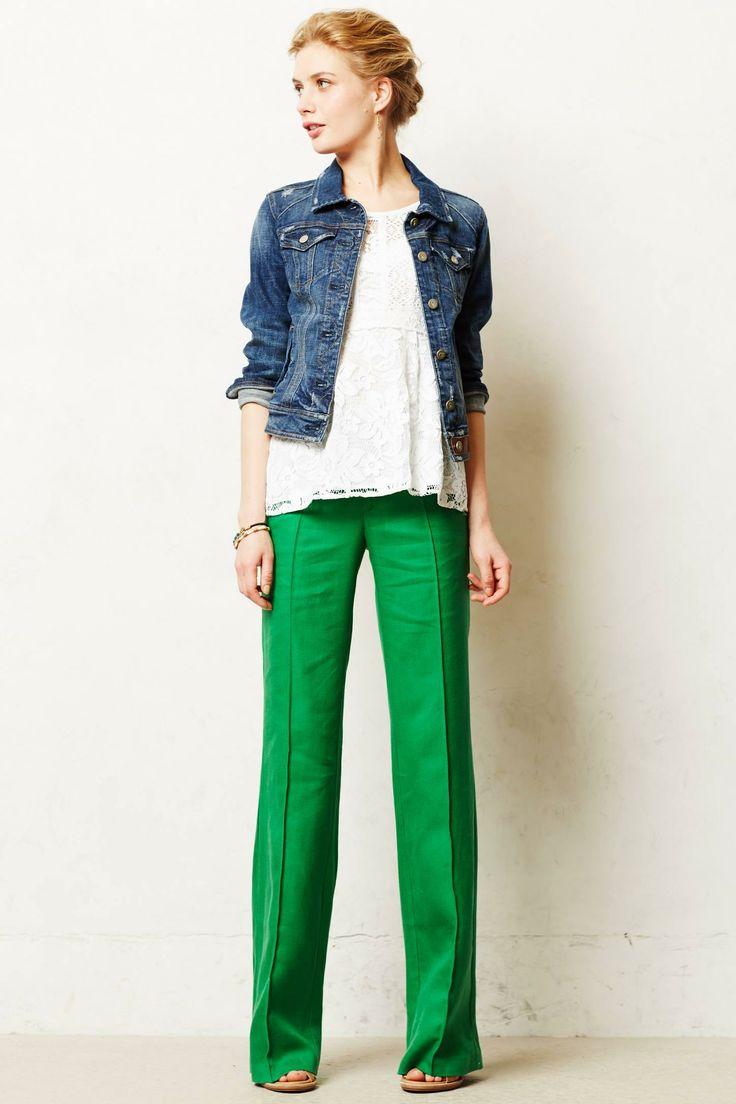En Şık Bayan Yeşil Pantolon Modelleri 2018