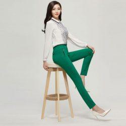 Yüksek Bel Yeşil Pantolon Modelleri 2018