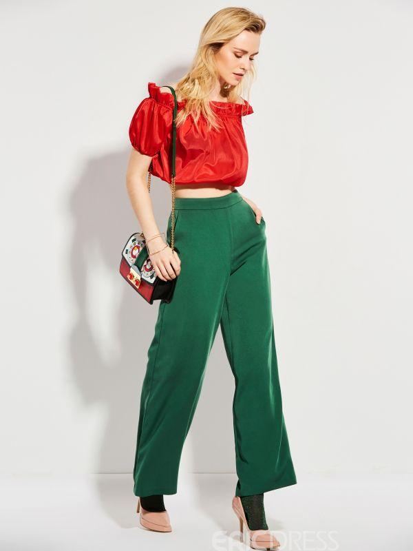 Yeni Sezon Yeşil Pantolon Modelleri 2018