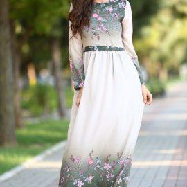 Çiçek Desenli Patırtı Elbise Modelleri 2018
