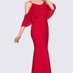 İp Askılı Patırtı Kırmızı Abiye Modelleri 2018