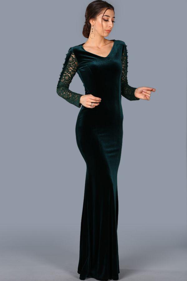 En Güzel Kadife Patırtı Abiye Modelleri 2018
