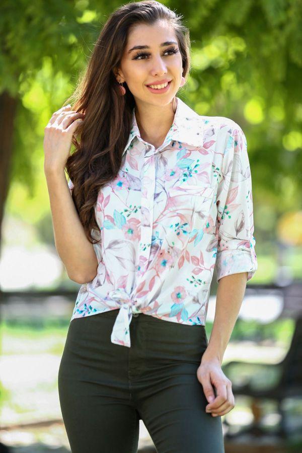 2018 Çiçek Desenli Gömlek Modelleri