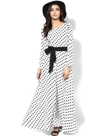 2019 Puantiyeli Uzun Elbise Modelleri