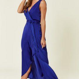 Saks Mavisi Uzun Elbise Modelleri 2019