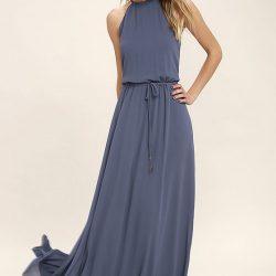 Tül Detaylı Uzun Elbise Modelleri