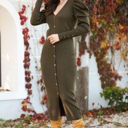 En Zarif Önden Düğmeli Patırtı Elbise Modelleri 2020