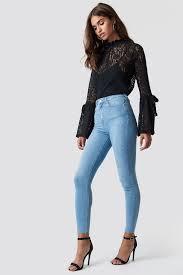 En Yeni Yüksek Bel Kadın Kot Pantolon Modelleri 2021