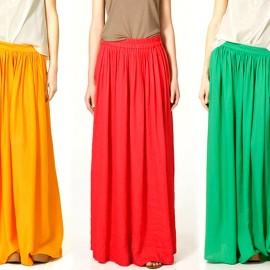 Renkli Yazlık Etek Modelleri