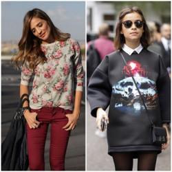 Çiçek Baskılı Sweatshirt Modelleri