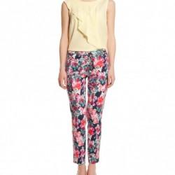 Çiçekli Sonbahar Koton Pantolon Modelleri
