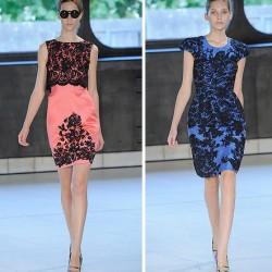 2014 Renkli Dantelli Elbise Modelleri
