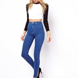 Dar Yüksek Bel Kot Pantolon Modelleri