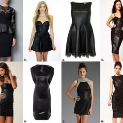 Deri Detaylı Elbise Modelleri