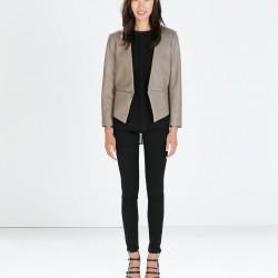 Deri Zara Ceket Modelleri