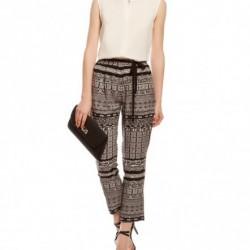 Desenli Sonbahar Koton Pantolon Modelleri