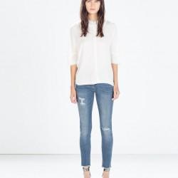 Kısa Yeni Zara Jeans Modelleri