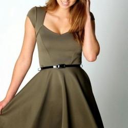 Mini Elbise 2015 Haki Rengi Giyim Modelleri