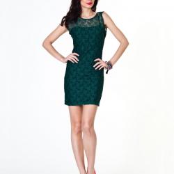 Renkli Dantelli Elbise Modelleri