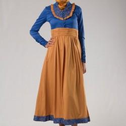 Sarı, Mavi Yeni Sezon Tesettür Giyim Modelleri