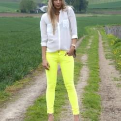 Sarı Neon Pantolon Modelleri