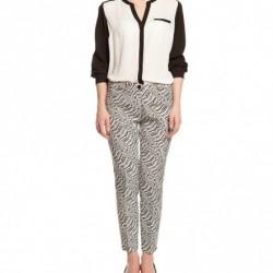 Siyah Beyaz Sonbahar Koton Pantolon Modelleri