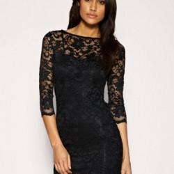 Siyah Renkli Dantelli Elbise Modelleri