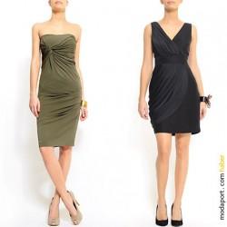 Straplez Elbise 2015 Haki Rengi Giyim Modelleri