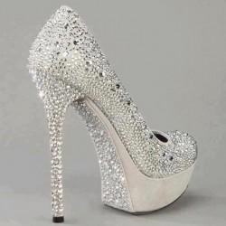 Taş Süslemeli Yeni Sezon Gelin Ayakkabısı Modelleri