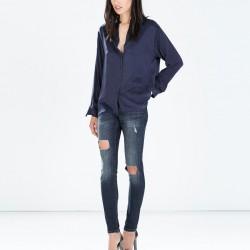 Yırtık Yeni Zara Jeans Modelleri
