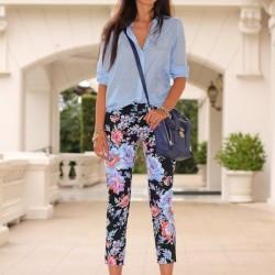Yazlık Desenli Pantolon Modelleri