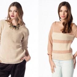 Açık Tonlarda 2014 Kışlık Triko Modelleri