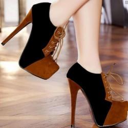 Bağcıklı Süet Bayan Ayakkabısı Modelleri