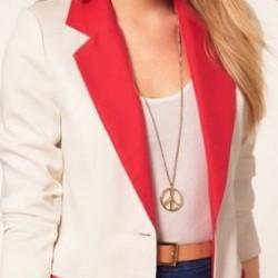 Beyaz Renkli Blazer Ceket Modelleri