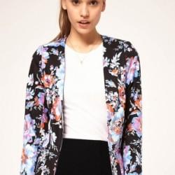 Blazer Çiçek Desenli Ceket Modelleri