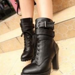Bot Bayan Deri Ayakkabıları