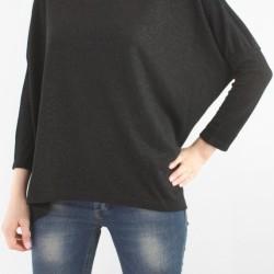 Düz Siyah Yarasa Kol Bluz Modelleri