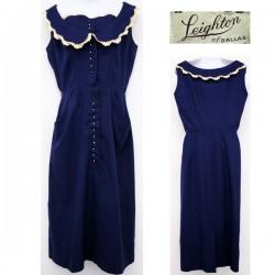 Dantel Yakalı Vintage Elbise Modelleri