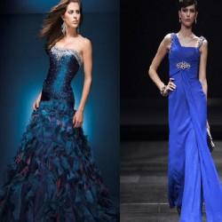 Gece Mavisi Elbise Modelleri