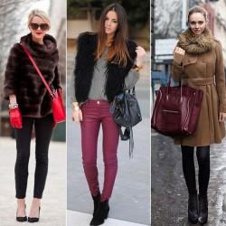 Kürk Detaylı Kışlık Bayan Kombinleri 2015