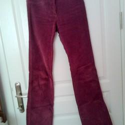 Mürdüm Rengi Kadife Pantolon Modelleri