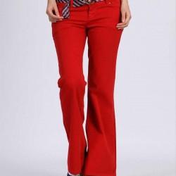 Renkli Kadife Pantolon Modelleri